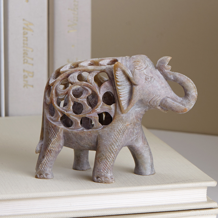Double carved elephant fair trade winds