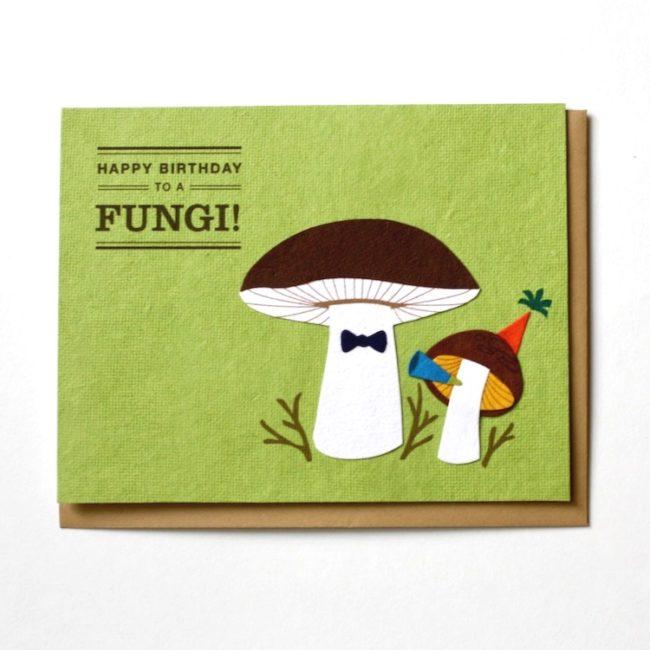 fungi bday cards