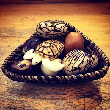 tagua nut ornament turtle