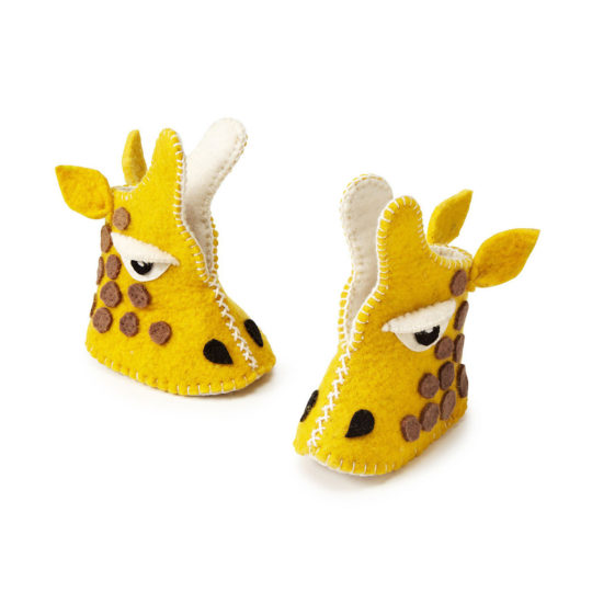 felt Baby Shoes Giraffe