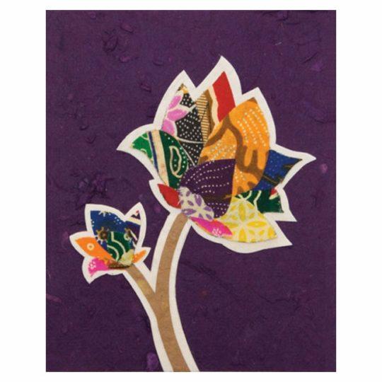 batik-flower card