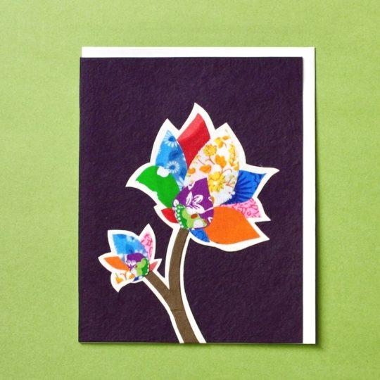 flower batik card