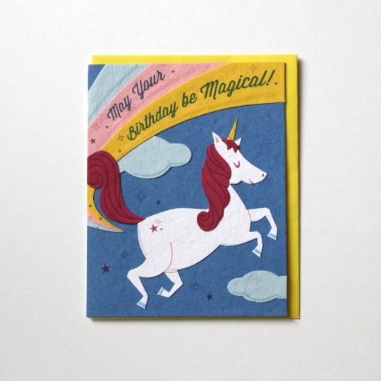 unicorn bday card