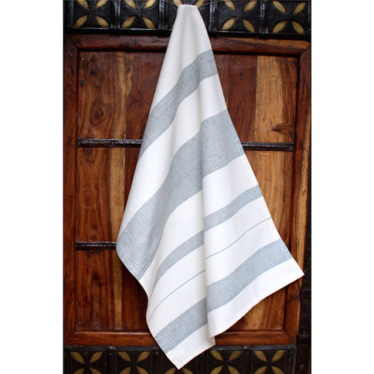 fair trade kitchen towel blueberry