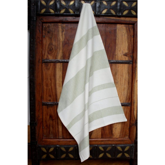 fair trade kitchen towel sage