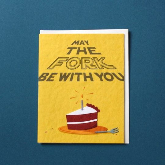 fork bday card