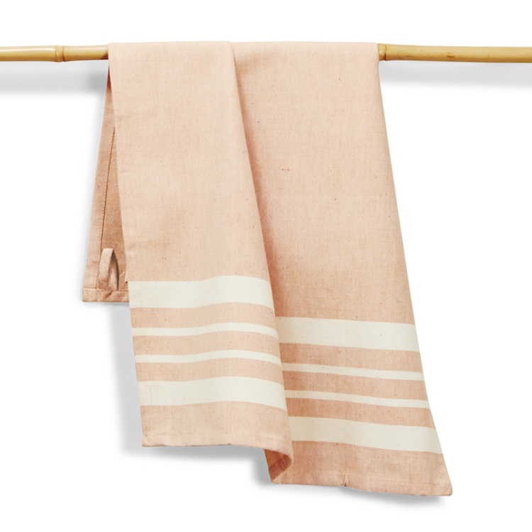 kitchen towel tangerine