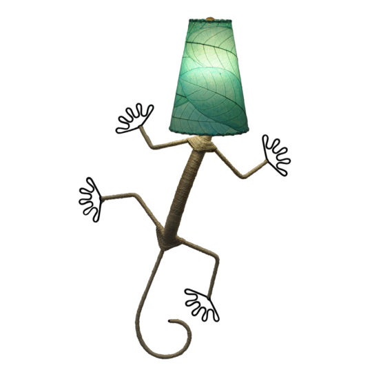 cocoa leaves gecko lamp