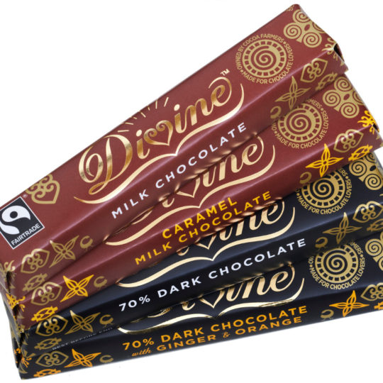 divine chocolate snack bars