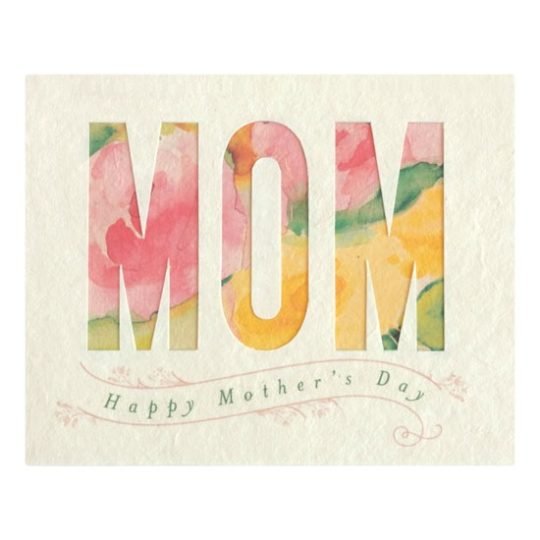 watercolor mother's day card
