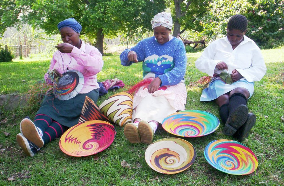telephone wire baskets artisans