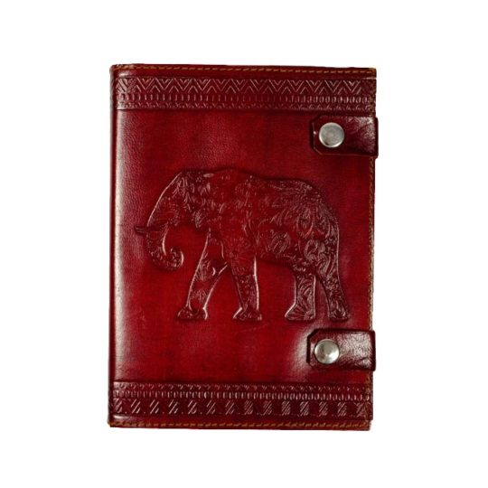 elephant leather snap journal