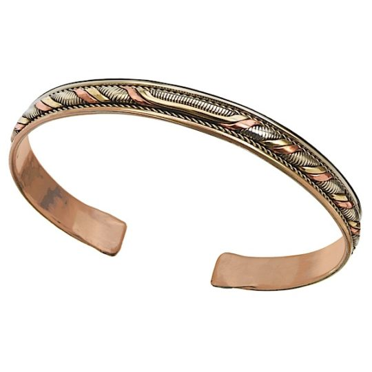 healing twist copper bracelet