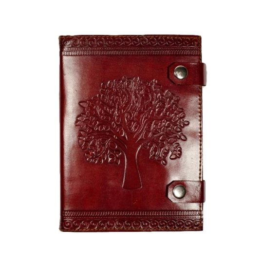 tree of life leather snap journal