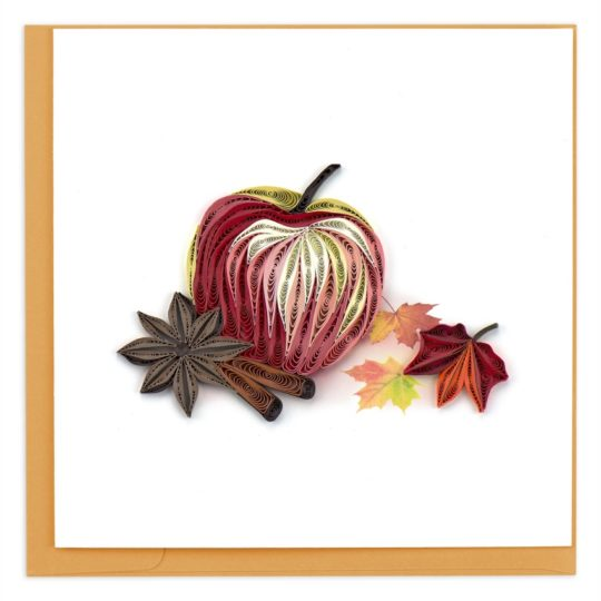 autumn apple quilling card