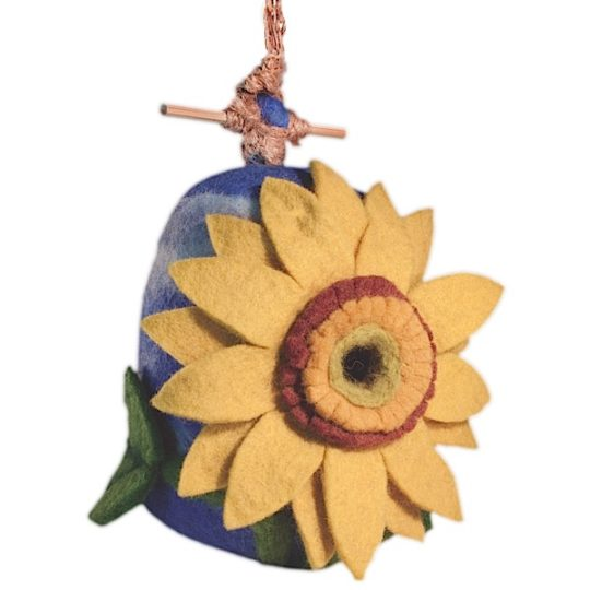 Felt Birdhouse Sunflower
