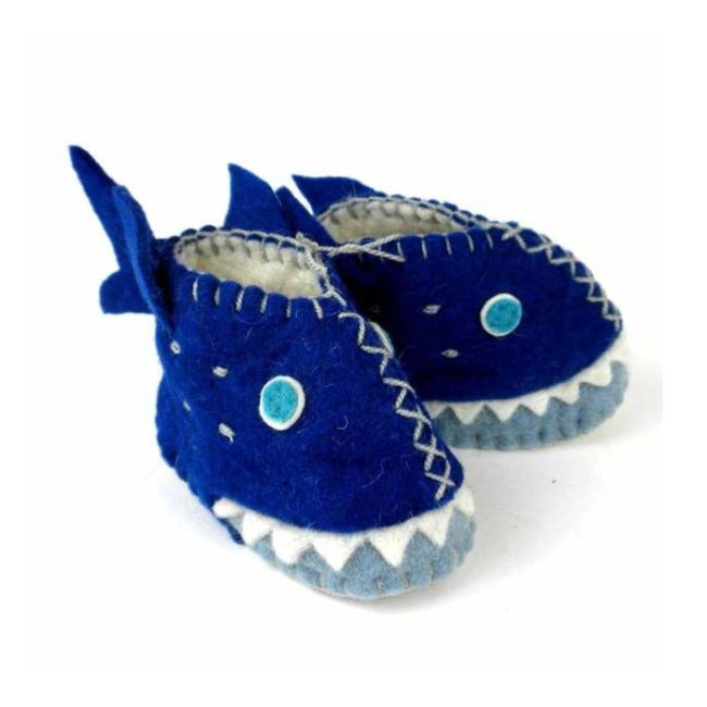 shark felt baby shoes