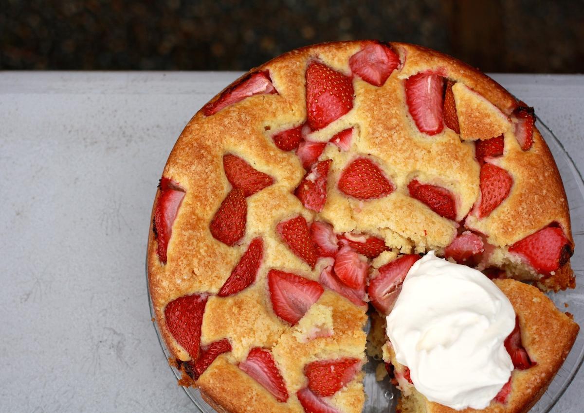 Fair Trade Strawberry Buttermilk Cake - Fair Trade Winds