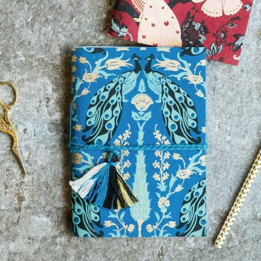 blue peacock fauna journal styled