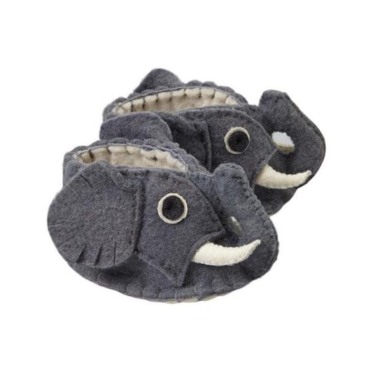elephant felt baby shoes