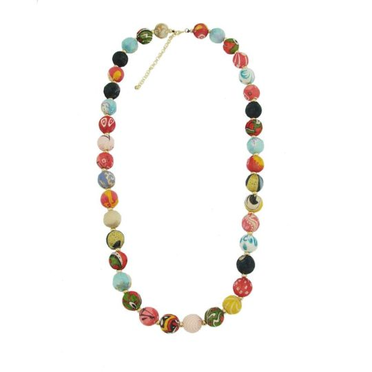 kantha bead garland necklace