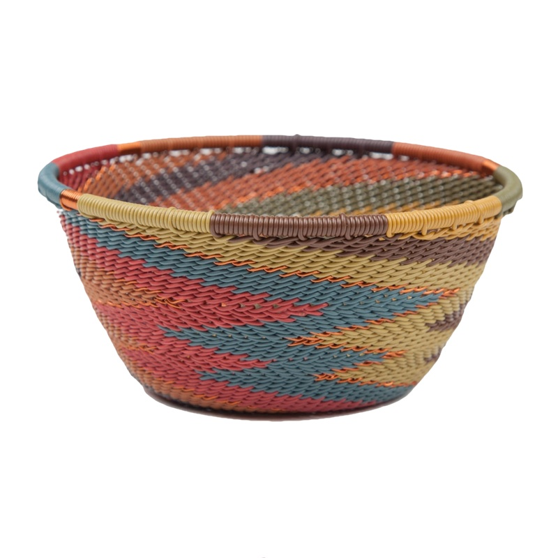telephone wire small bowl painted desert