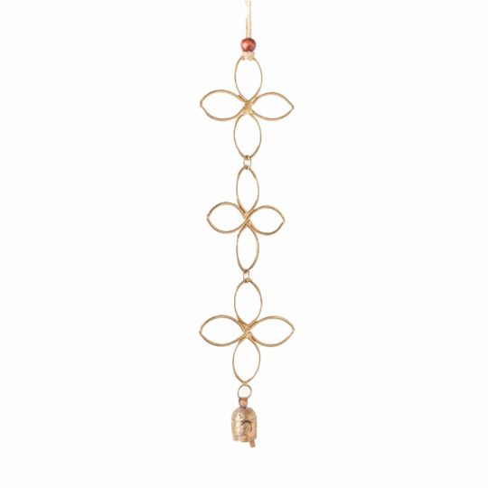 Air element bell chime quatrefoil cascade