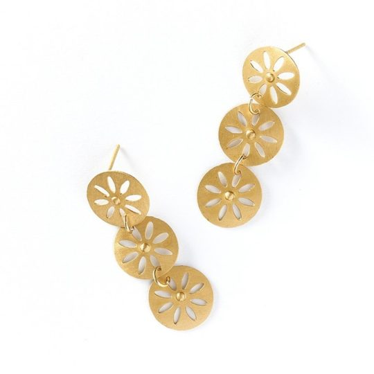 Chameli earrings petal drop