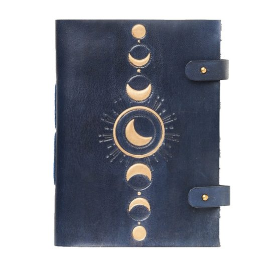 Indukala leather journal crescent