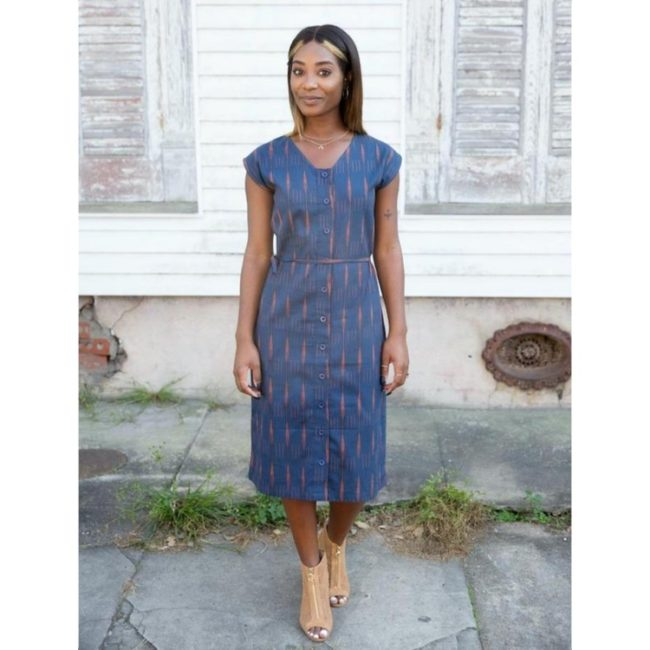 Lerory Button Dress
