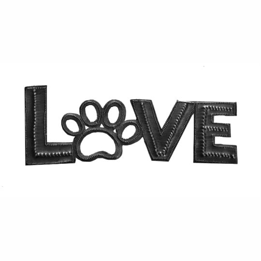 Love paw oil drum sign