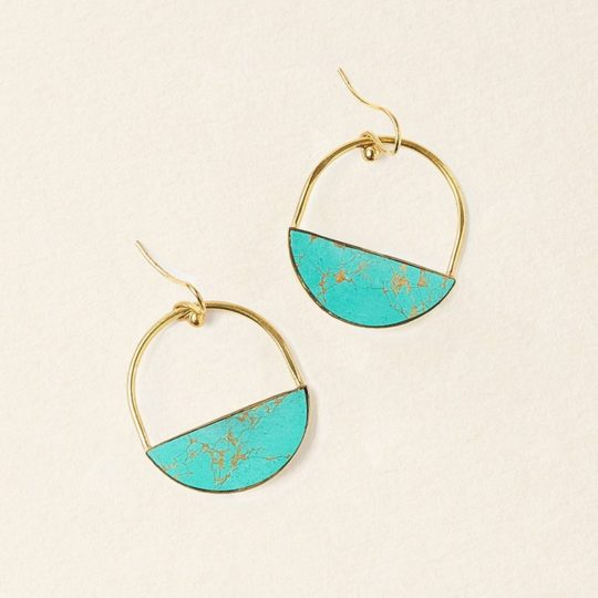 Sandhya Turquoise Earrings Slice