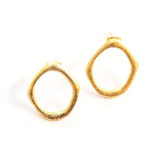 abstract xl studs brass