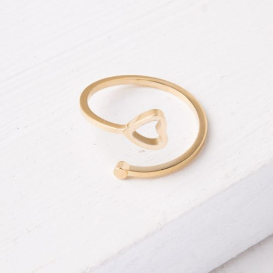 ada gold heart ring