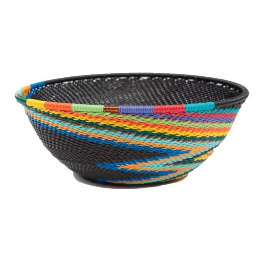 african rainbow telephone wire medium bowl