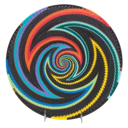 african rainbow telephone wire small platter