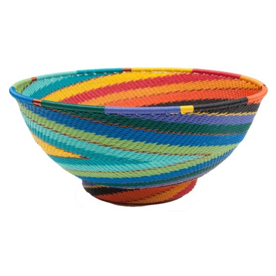 african spirit telephone wire large bowl