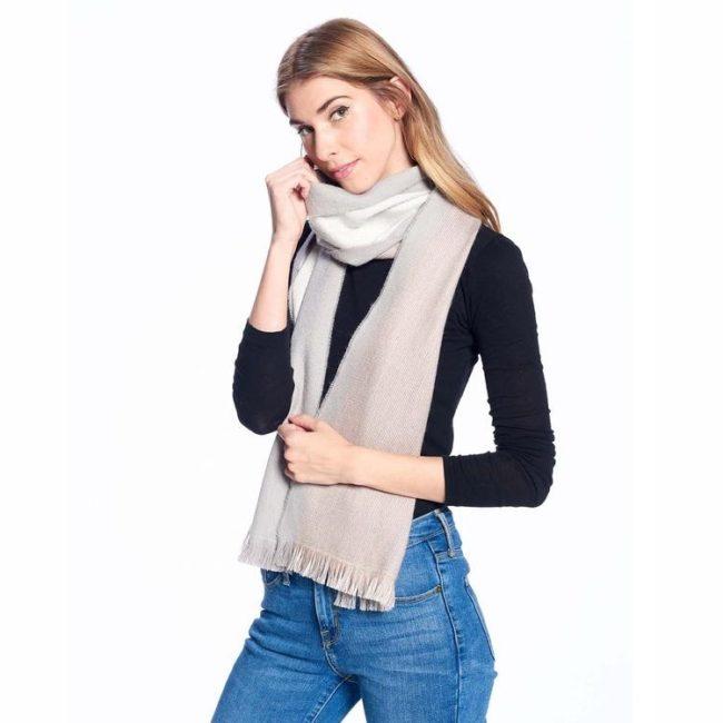 alpaca reversible scarf porpoise 1