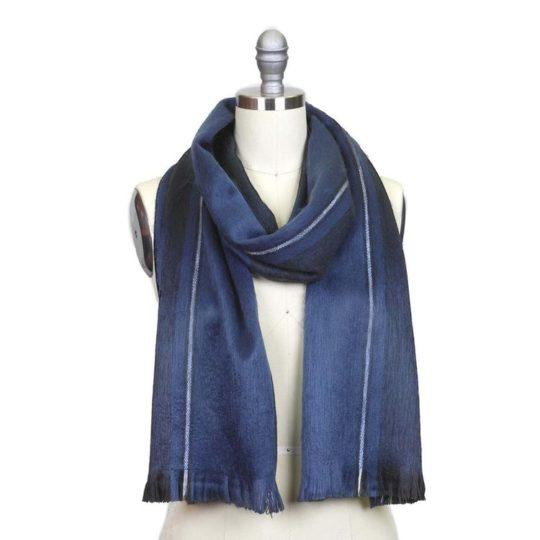 alpaca scarf cobalt blue