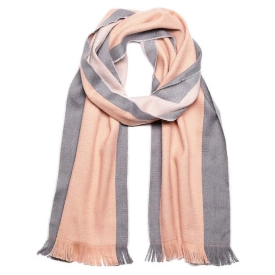 alpaca scarf reversible dusty coral
