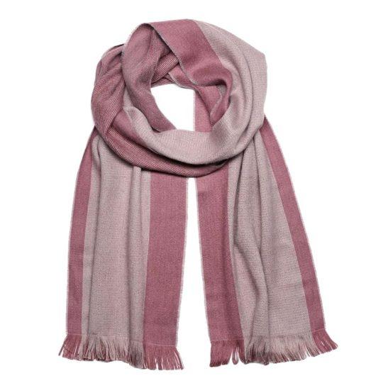 alpaca scarf reversible rhubarb