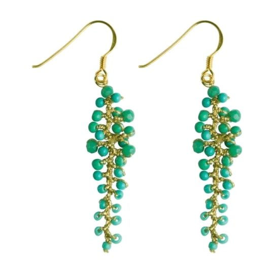 annie earrings turquoise
