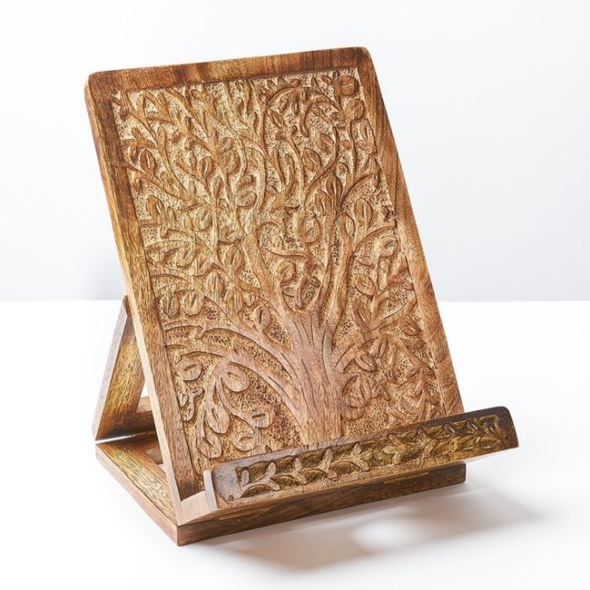 aranyani wood tablet book stand