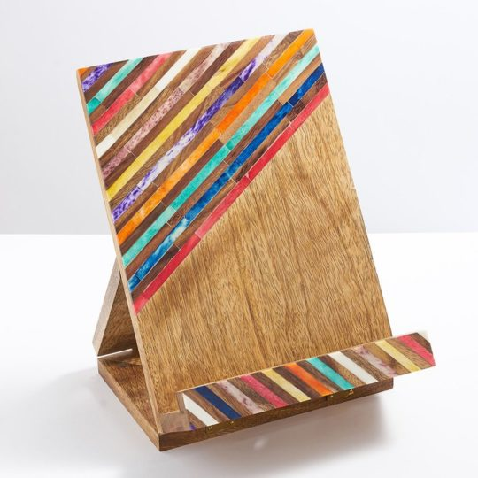 banka mundi wood tablet book stand