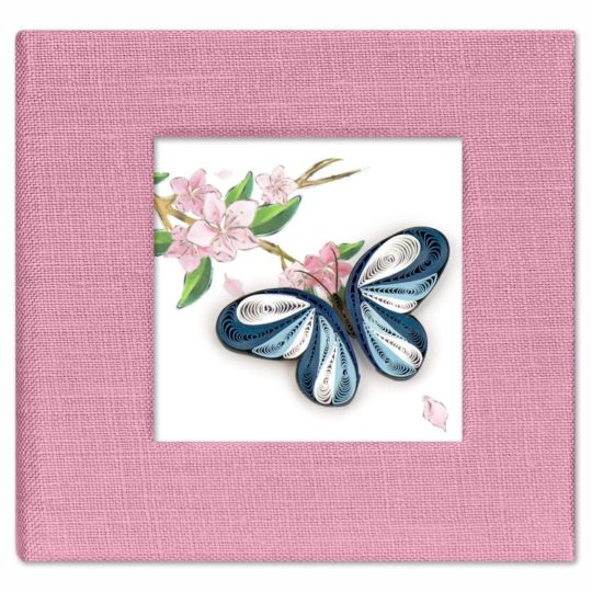 blue butterfly stocky note cover