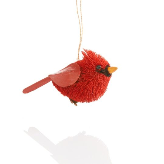 cardinal brush ornament