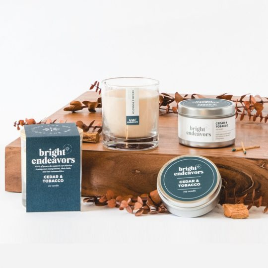 cedar tobacco candles