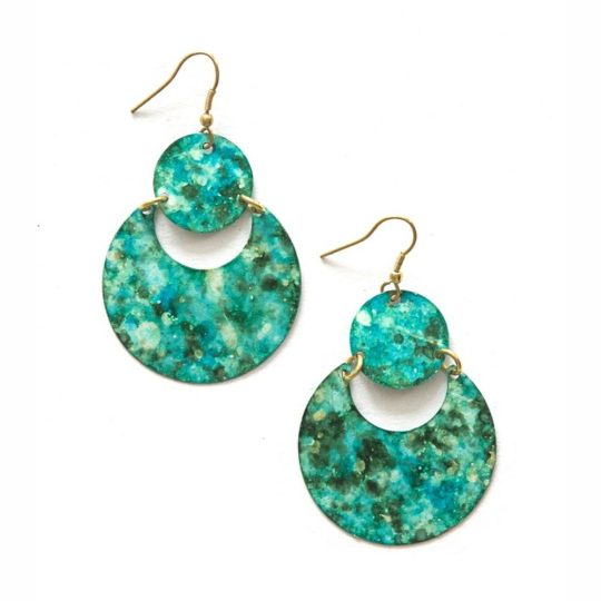 cloudy waters earrings