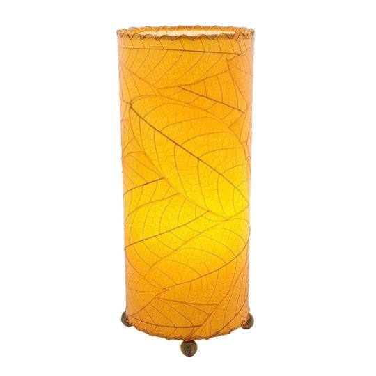 cocoa leaf table lamp orange