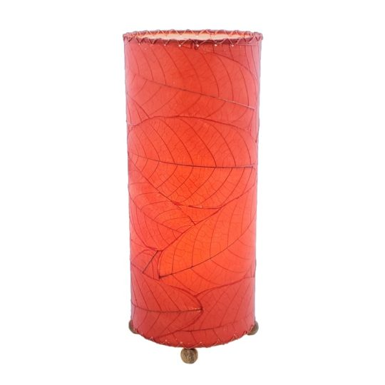 cocoa leaf table lamp red